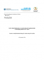 ADDIS ABABA DECLARATION ON ACCELERATING THE IMPLEMENTATION OF THE BEIJING PLATFORM FOR ACTION-2014