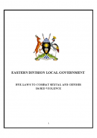BY-LAWS TO COMBAT SEXUAL AND GENDER BASED VIOLENCE EASTERN DIVISION LOCAL GOVERNMENT SGBV