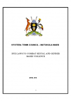 BY-LAWS TO COMBAT SEXUAL AND GENDER KYOTERA TOWN COUNCIL – MUTUKULA WARD SGBV