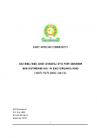 GUIDELINES AND CHECKLISTS FOR GENDER MAINSTREAMING IN EAC ORGANS AND INSTITUTIONS-2013