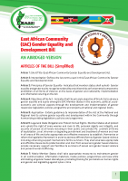 EAST AFRICAN COMMUNITY (EAC) GENDER EQUALITY AND DEVELOPMENT BILL: AN ABRIDGED VERSION