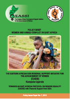 POLICY BRIEF ON WOMEN AND ARMED CONFLICT IN EAST AFRICA
