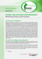 POLICY BRIEF ON WOMEN AND ECONOMIC EMPOWERMENT 2016
