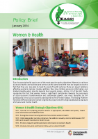 POLICY BRIEF ON WOMEN AND HEALTH -JANUARY 2016
