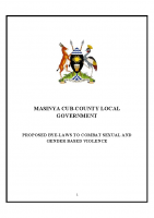 PROPOSED BY-LAWS TO COMBAT SEXUAL AND GENDER BASED VIOLENCE MASINYA CUB-COUNTY LOCAL GOVERNMENT SGBV