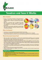 POLICY BRIEF ON TAXATION AND HOW IT WORKS- EASSI