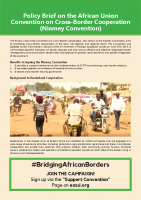 POLICY BRIEF ON THE AFRICAN UNION CONVENTION ON CROSS-BORDER COOPERATION (NIAMEY CONVENTION)
