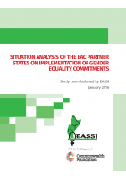 SITUATION ANALYSIS OF THE EAC PARTNER STATES ON IMPLEMENTATION OF GENDER EQUALITY COMMITMENTS-2016