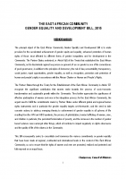 THE EAST AFRICAN COMMUNITY GENDER EQUALITY AND DEVELOPMENT BILL-2015
