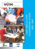 WOGE LIFE SKILLS AND LEADERSHIP GUIDE 2012-2015 Manual