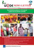 WOGE NEWSLETTER JULY -DECEMBER 2014