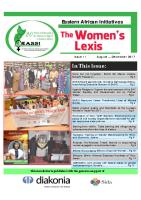 WOMEN'S LEXIS NEWSLETTER AUG-DEC 2017
