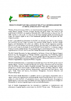 PRESS STATEMENT ON THE LAUNCH OF THE 1ST EAC GENDER BAROMETER 2017